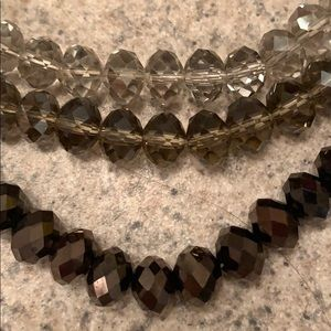 Express Jewelry - Express 3 tier gray toned jewel necklace